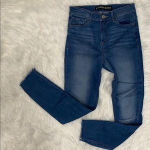 {Express} Supersoft High Rise Ankle Legging Jean